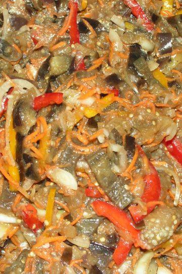 Салат из баклажан по-корейски