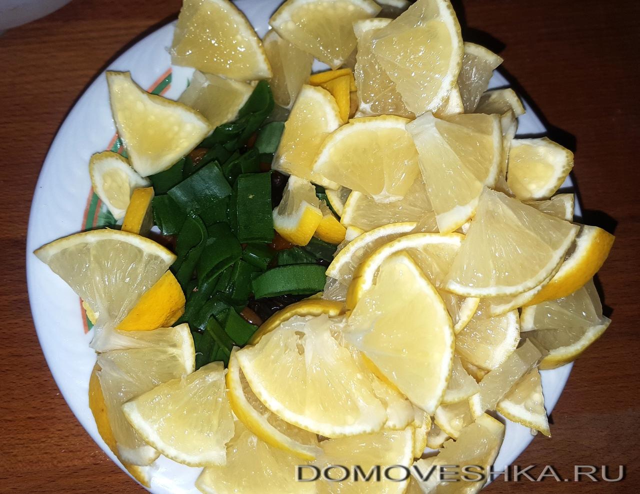 Лимон и алое для витаминной смеси